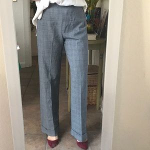DKNY Vintage Plaid Wool Trousers, Size 6